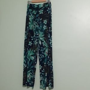 Funky Pallazzo Wide Flare legs hawaii stretch pant